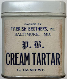 #CS431 - Full Tin of Parrish Brothers Cream of Tartar