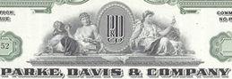 #ZZCE034 - Stock Certificate from Parke, Davis & Company