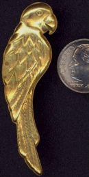 #BEADS0446 - Large Brass Parrot Stamping - As Low As 50¢
