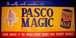 #SIGN197 - Large Risque Pasco Magic Water Softener and Cleaner Paper Sign