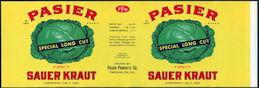 #ZLCA246 - Uncommon Pasier Fancy Sauer Kraut Can Label