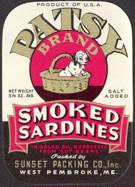 #ZLCA123 - Patsy Smoked Sardines Label