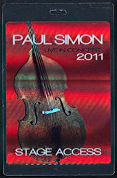 ##MUSICBP0197 - Paul Simon Live in Concert 2011 Hologram Backstage Pass
