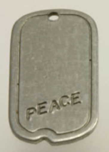 #BEADS0018 - Steel Hippie Peace Dog Tag Pendant