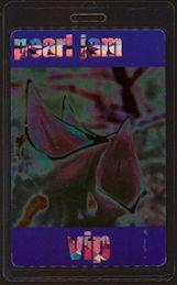 ##MUSICBP0460 - Pearl Jam Laser Foil Laminated PERRi Backstage Pass - 1999 Tour