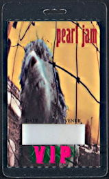 ##MUSICBP0321  - Pearl Jam 1993 VS Tour Laminated Backstage Pass