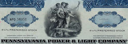 #ZZCE071 - Pennsylvania Power & Light Company Stock Certificate