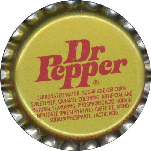 #BC059 - Group of 10 Dr Pepper Soda Bottle Caps