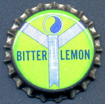 #BC157 - Group of 10 Cork Lined Pequot Bitter Lemon Soda Bottle Caps