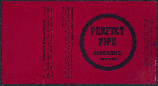 #ZLT035 - Perfect Pipe Smoking Mixture Tobacco Box Label