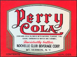 #ZLS232 - Perry Cola Soda Bottle Label
