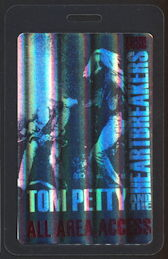 ##MUSICBP0242 - 2005 Tom Petty and the Heartbreakers Laminated OTTO Backstage Pass - Hologram Version