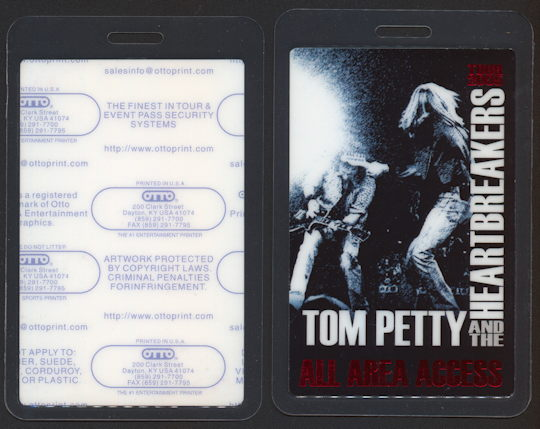 ##MUSICBP0244 - 2005 Tom Petty and the Heartbreakers Laminated All Area Access OTTO Backstage Pass - Foil Version