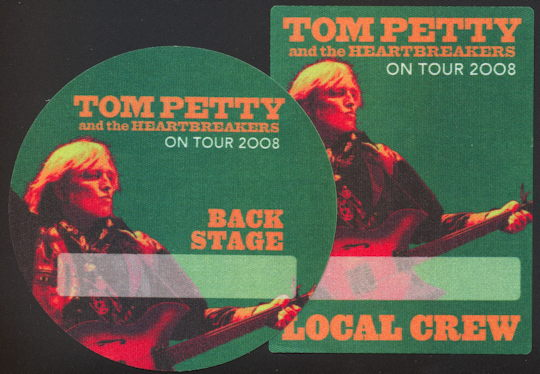##MUSICBP0246 - Pair of Cloth OTTO Backstage Passes from the Tom Petty and the Heartbreakers 2008 Tour