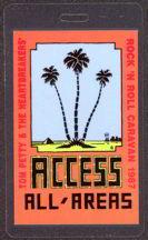 ##MUSICBP0041  - Scarce Laminated 1987 Tom Petty Rock 'N Roll Caravan Tour Backstage Pass