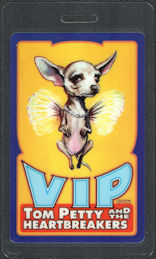 ##MUSICBP0770  - Rare Tom Petty and the Heartbreakers Laminated VIP OTTO Backstage VIP Pass from the 1995 Dogs with Wings Tour