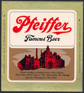 #ZLBE094 - Pfeiffer Famous Beer Bottle Label - Evansville, Indiana