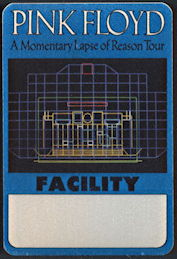 ##MUSICBP0327 - Pink Floyd OTTO Cloth Backstage Pass from the 1987 Momentary Lapse of Reason Tour
