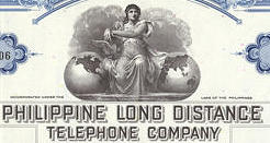 #ZZCE038 - Stock Certificate from the Philippine Long Distance Telephone Company