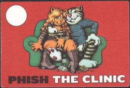 ##MUSICBP0635  - Phish OTTO Cloth Backstage Pass from The Clinic Tour - Fritz the Cat