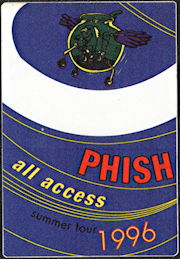 ##MUSICBP0524 - PHISH OTTO Cloth Backstage Pass from the 1996 Summer Tour