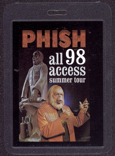 ##MUSICBP0039 - PHISH OTTO Laminated All Access 98 Backstage Pass Picturing Planet of the Apes
