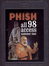 ##MUSICBP0039 - PHISH Laminated All Access 98 Backstage Pass Picturing Planet of the Apes