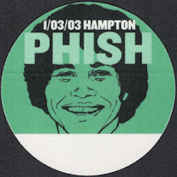 ##MUSICBP0579 - Green PHISH OTTO Cloth Backstage Pass from the 2003 Hampton Concert - Pictures Epstein from Welcome Back Kotter