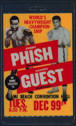 ##MUSICBP0423 - Rare Phish Laminated Backstage Pass Picturing Cassius Clay and Sonny Liston