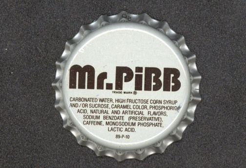 #BC068  - Mr. Pibb Soda Bottle Caps - Coca Cola Product - White and Black Version - As low as 5¢ each
