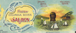 #ZLCA193 - Pillar Rock Columbia River Salmon Can Label