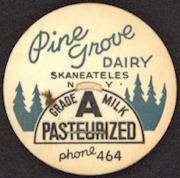 #DC133 - Pine Grove Dairy Pasteurized Grade A Milk Bottle Cap - As low as 10¢