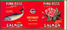 #ZLCA267 - Pink Rose Brand Salmon Can Label