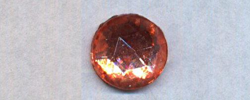 #BEADS0743 - 11mm Pink Glass Rauten Rose Rhinestone - As low as 25¢ each