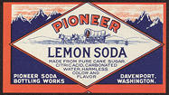 #ZLS155 - Pioneer Lemon Soda Label with Covered Wagon