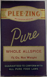 #CS446 - Full Box of Plee-Zing Brand Whole Allspice - Oldy