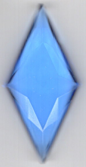 #BEADS0868 - Very Large 32mm Faceted Clear Blue Glass Rhinestone