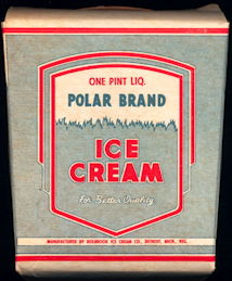 #DA096  - One Pint Polar Brand Ice Cream Box