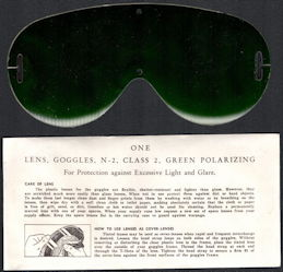 #MS310 - Group of 2 Packages of WWII Era Polaroid Goggle Aviation Lenses in Original Packages