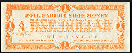 #CH083 - Group of 4 Pieces of Poll Parrot Shoe Money