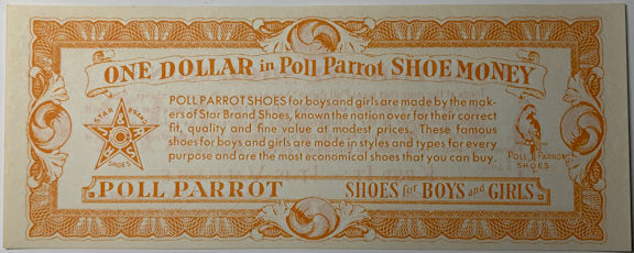 #CH083 - Group of 12 Pieces of Poll Parrot Shoe Money