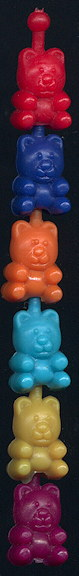 #TY679 - Group of 20 Pop Beads - Mostly Bears