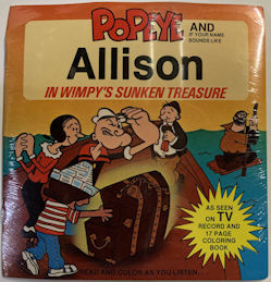#CH453 - Popeye Wimpy's Sunken Treasure Personalized Record - Still Sealed