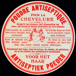 #ZBOT207 - French Hair Antiseptic Label