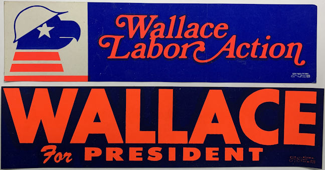 #PL377 - Pair of George Wallace Bumper Stickers
