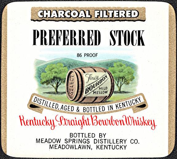 #ZLW173 - Uncommon Preferred Stock Brand Kentucky Straight Bourbon Whiskey Bottle Label