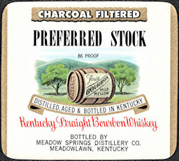 #ZLW173 - Uncommon Preferred Stock Brand Kentucky Straight Bourbon Whiskey Bottle Label