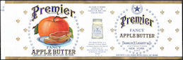 #ZLCA293 - Premier Fancy Apple Butter Can Label - Old Large Version