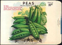 #CE068 - Premium Gem Peas 10¢ Seed Pack - As Low As 50¢ each