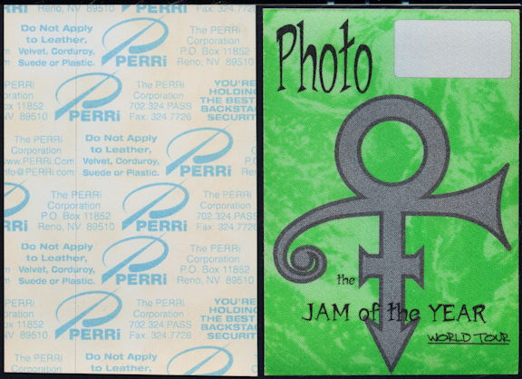 ##MUSICBP0392 - Prince PERRI Cloth Backstage Pass from the 1997 Jam of the Year Tour